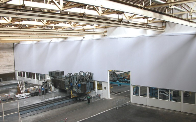 Industrial partition / partition walls for industrial facilities, storage rooms, workshops
