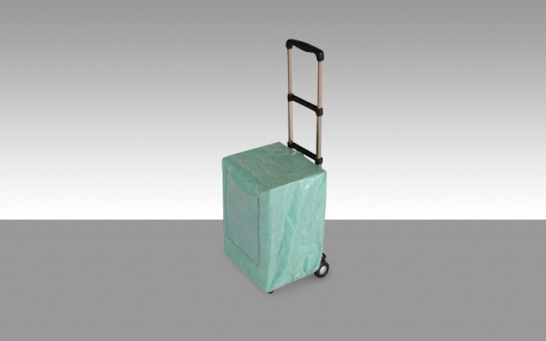 Protective cover for display trolley