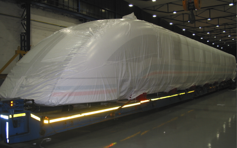 Protective covers for trains / rail vehicles